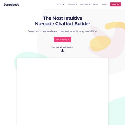 Intuitive Conversational Chatbot Builder 🤖 | Landbot.io