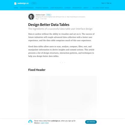 Design Better Data Tables - uxdesign.cc