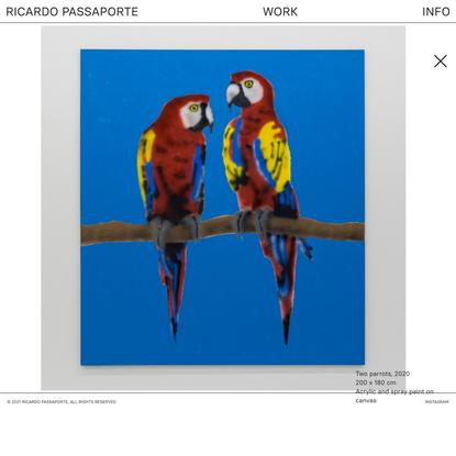 Ricardo Passaporte   Two parrots