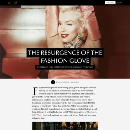The Resurgence of the Fashion Glove