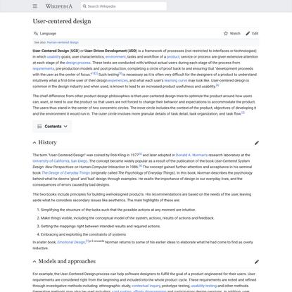 User-centered design - Wikipedia