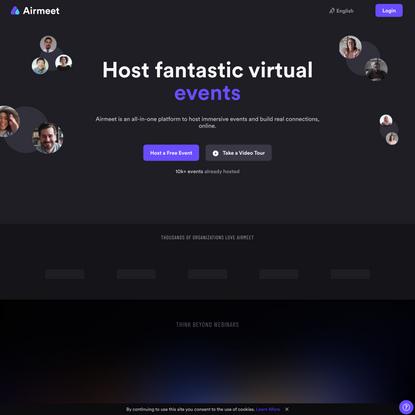 Virtual Events Platform for Communities & Enterprises   Airmeet