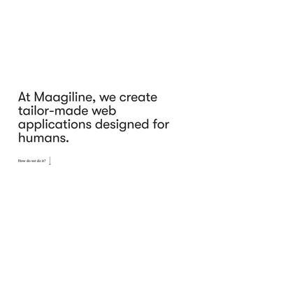 Maagiline - Tailor-made web applications