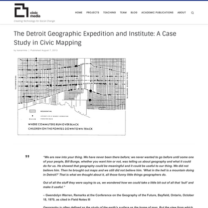 The Detroit Geographic Expedition and Institute: A Case Study in Civic Mapping – MIT Center for Civic Media