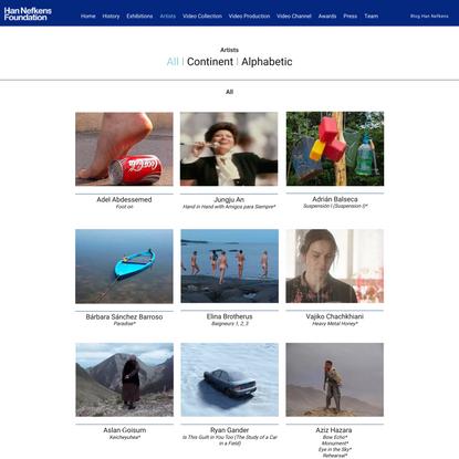 Artists | Fundació Han Nefkens