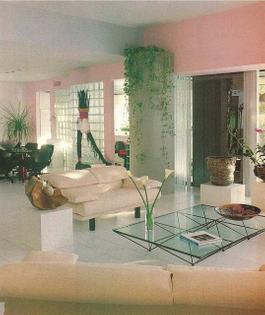 80s glass + tiles + plant + lightness