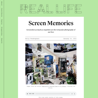 Screen Memories — Real Life