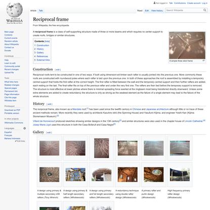 Reciprocal frame - Wikipedia