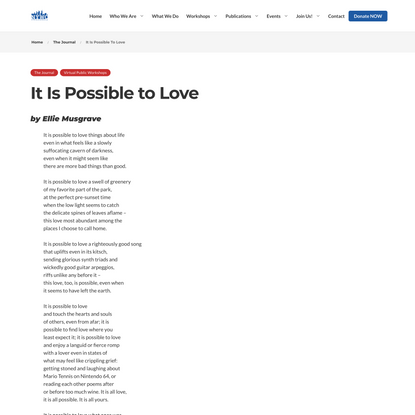 It Is Possible to Love - NY Writers