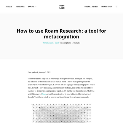 How to use Roam Research: a tool for metacognition