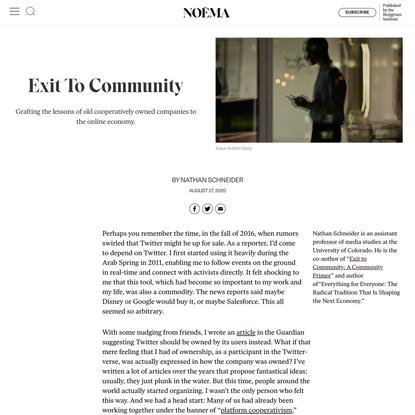 Exit To Community - NOEMA
