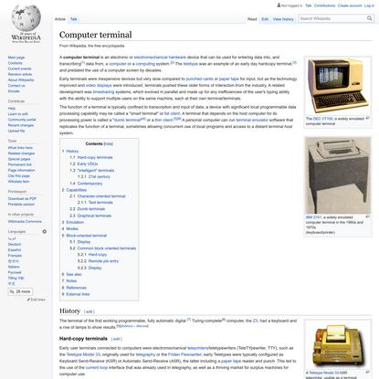 Computer terminal - Wikipedia