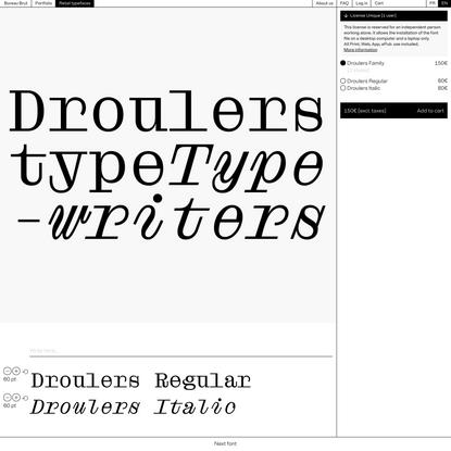 Droulers – Bureau Brut