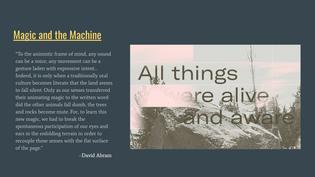 """""""Magic and the Machine"""""""