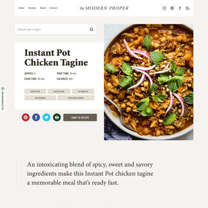 Instant Pot Chicken Tagine   The Modern Proper