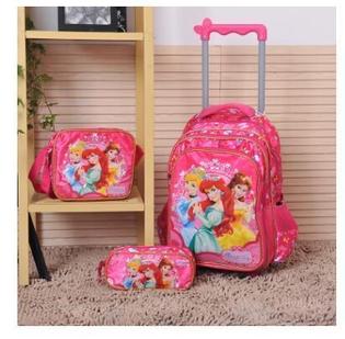 Pink roller backpack set
