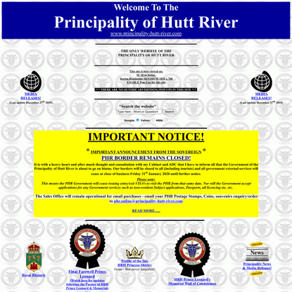 Official Home Site of the Principality of Hutt River, Homepage!