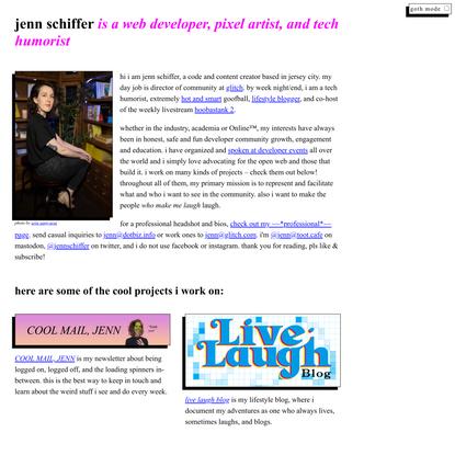 jenn schiffer • code, art, jokes, goofs