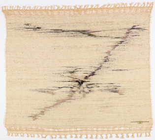 """""""Spring Thaw"""" by Lenore Tawney (American, 1907–2007); Linen, wool and goat hair tapestry"""