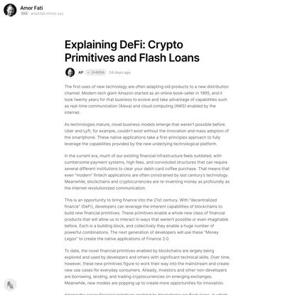 Explaining DeFi: Crypto Primitiv… — Mirror