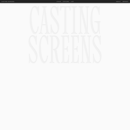 Casting Screens   Home