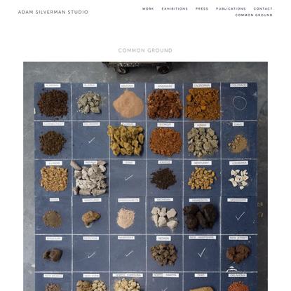 COMMON GROUND — Adam Silverman Studio