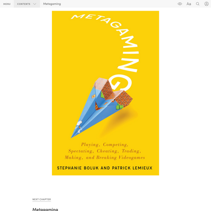 """""""Cover"""" in """"Metagaming"""" on Manifold @uminnpress"""
