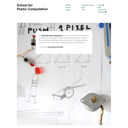 SFPC | School for Poetic Computation
