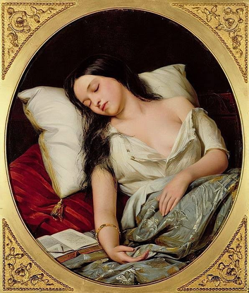 "Roni Milla on Instagram: ""Henry Nelson O'Neil ""Pleasant Dreams"" 1852"""
