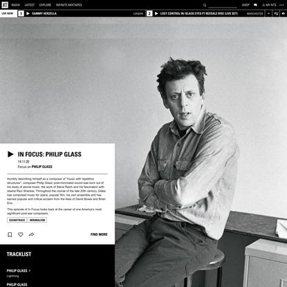 In Focus: Philip Glass 14th November 2020