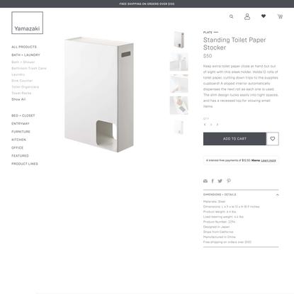 Standing Toilet Paper Stocker