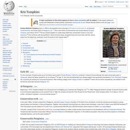 Kris Tompkins - Wikipedia