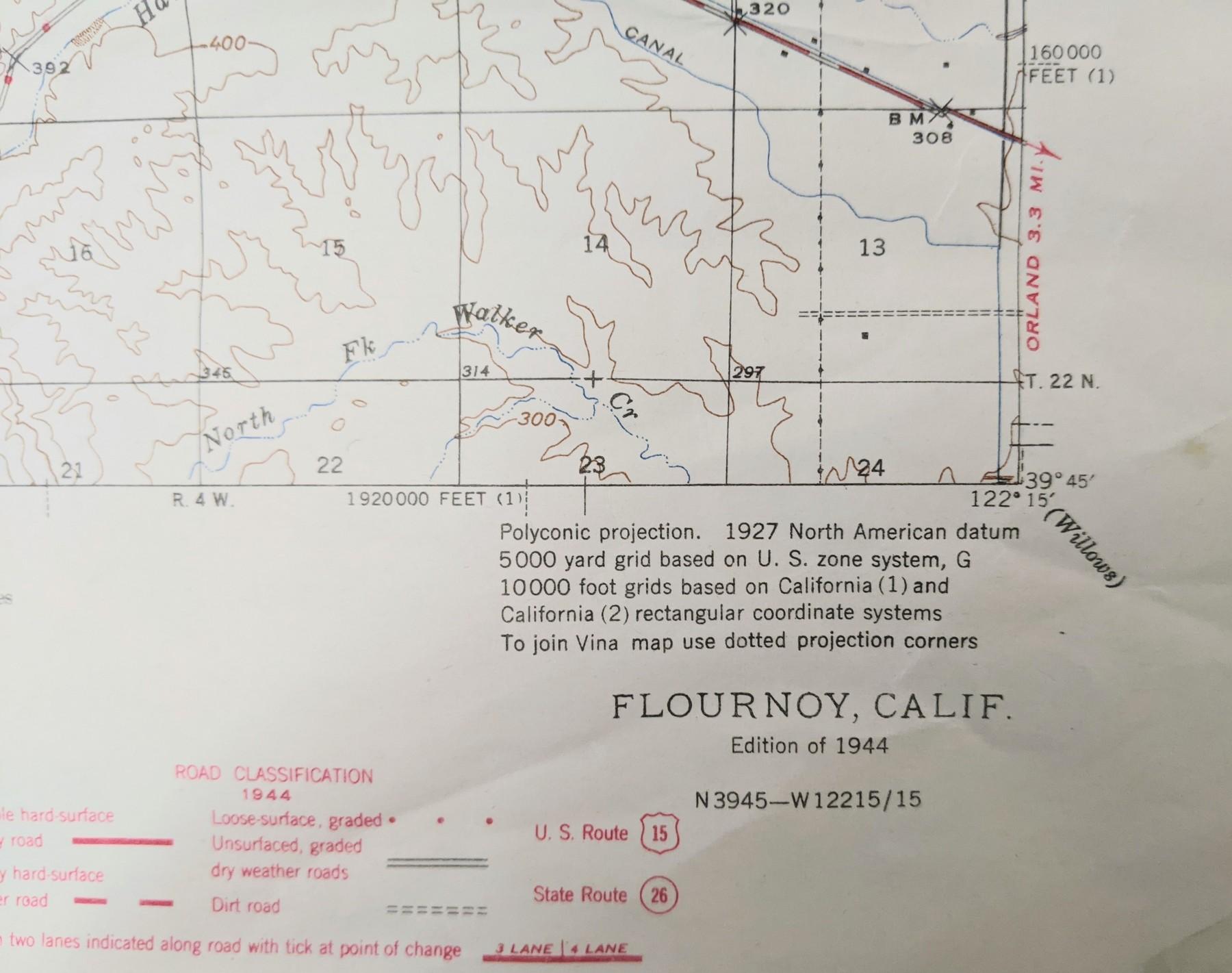 Geological Survey Map, Urban Ore, Berkeley CA
