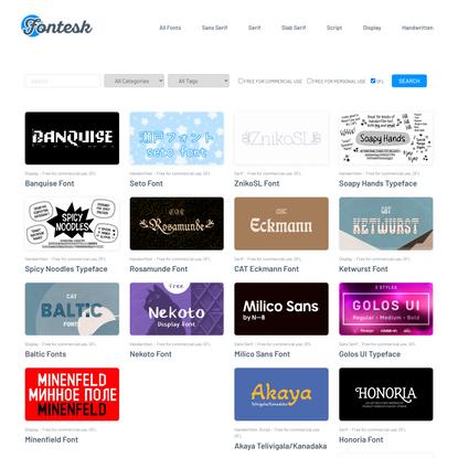 900+ Open Source Fonts (OFL) › Fontesk