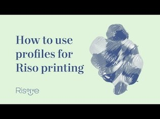 How to use profiles for Riso printing
