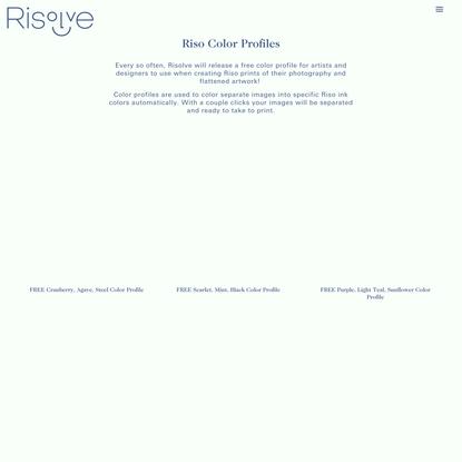 Riso Color Profiles