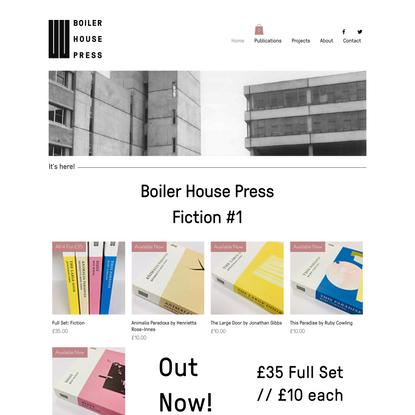 Boiler House Press   UEA   Norwich