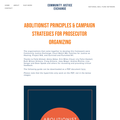 Abolitionist Principles — Community Justice Exchange