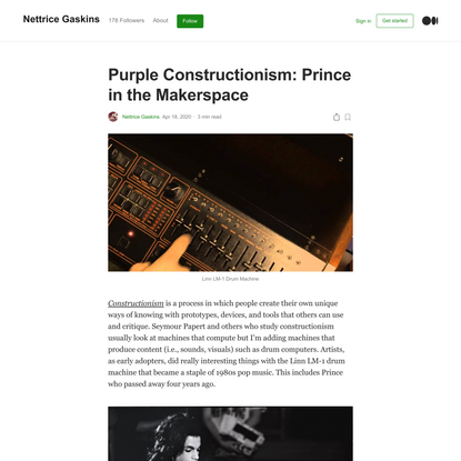 Purple Constructionism: Prince in the Makerspace