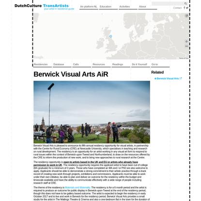 Berwick Visual Arts AiR