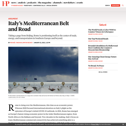 Italy's Mediterranean Belt and Road