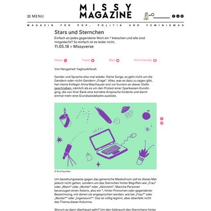 Stars und Sternchen - Missy Magazine