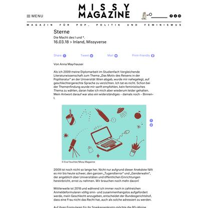 Sterne - Missy Magazine