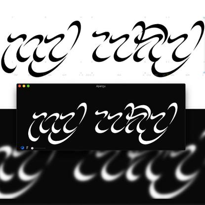 "Awista on Instagram: ""Yes it was my wip 🎶 . . . . . . . . . . . . . . #specimen #typeface #design #visualgraphc #collectgrap..."