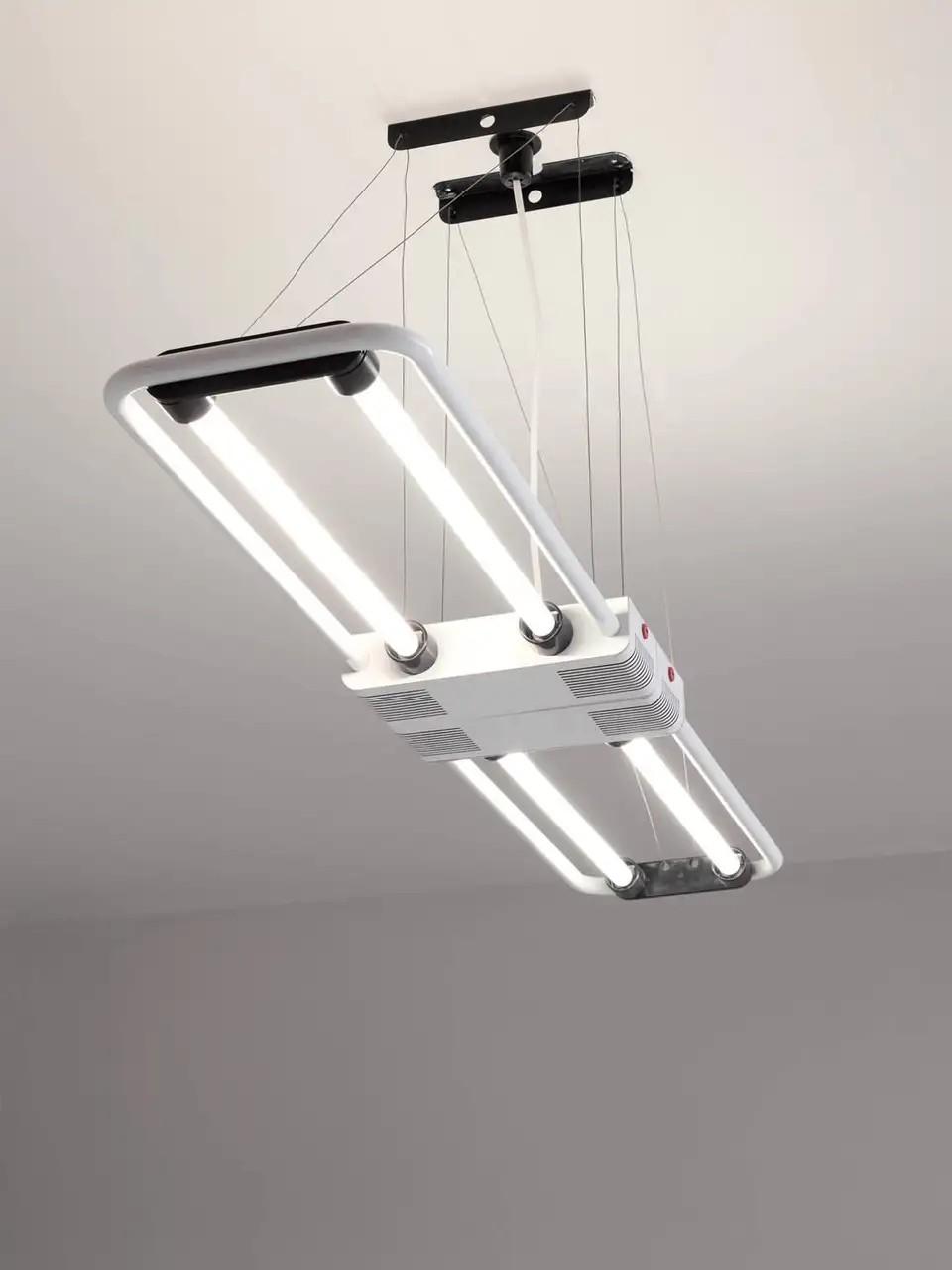 XXL Vintage Fluorescent Hanging Lamp 'Duo' by Gian Nicola Gigante for ZerbettoXXL Vintage Fluorescent Hanging Lamp 'Duo' by Gian Nicola Gigante for Zerbetto
