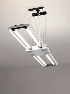 XXL Vintage Fluorescent Hanging Lamp 'Duo' by Gian Nicola Gigante for ZerbettoXXL Vintage Fluorescent Hanging Lamp 'Duo' by Gian Nicola Gigante for Zerbetto