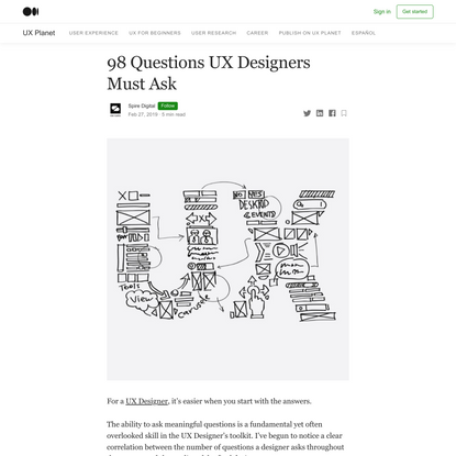 98 Questions UX Designers Must Ask