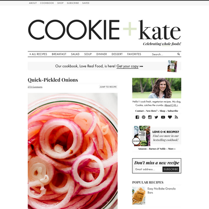Quick-Pickled Onions Recipe - Cookie and Kate