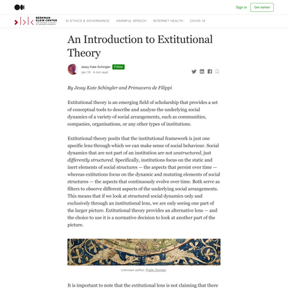 An Introduction to Extitutional Theory