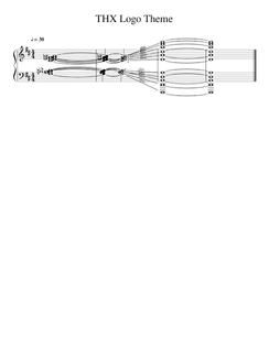 THX logo theme sheet music